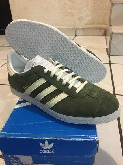 adidas Gazelle Color Verde 100% Originales Nuevos En Caja