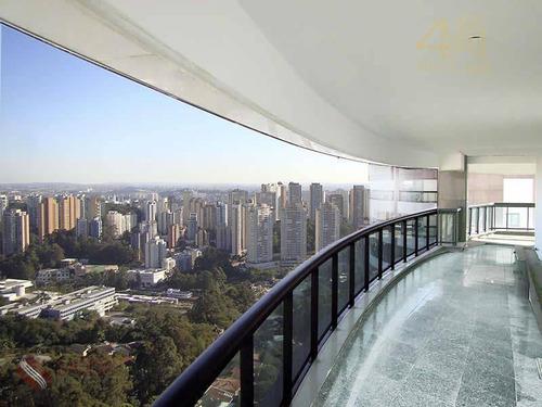 Magnífica Cobertura Para Venda No Panamby, 769m, 05 Suítes, 06 Vagas, R$ 2.5000.000,00 (l) - Co0004