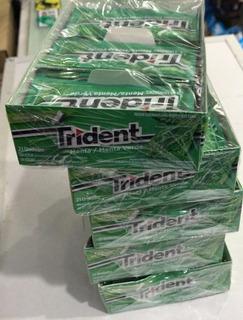 10 Caixas Chiclete Trident 21un Menta Verde Atacado Revenda