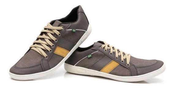 Sapato Sapatênis Casual Masculino Em Couro Ecológico