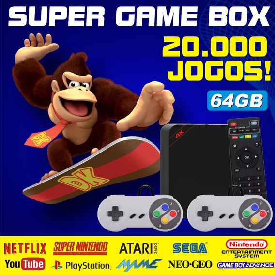 Super Game Box - Video Game Retro Com Jogos Antigos 64gb