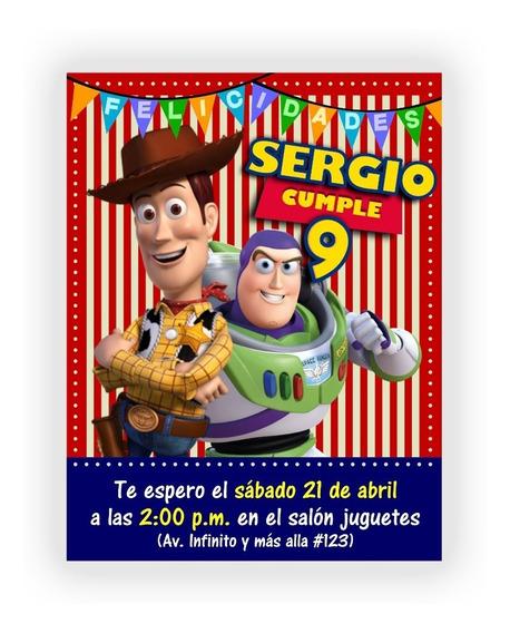 Iinvitación Digital Personalizada Woody & Buzz + Regalos