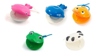 Castañuelas Plasticas Bambina Varios Diseños Animalitos