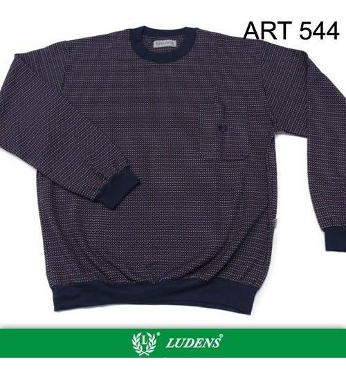 Art544 Pijama Jackard Manga Larga, Pantalón Largo - Ludens