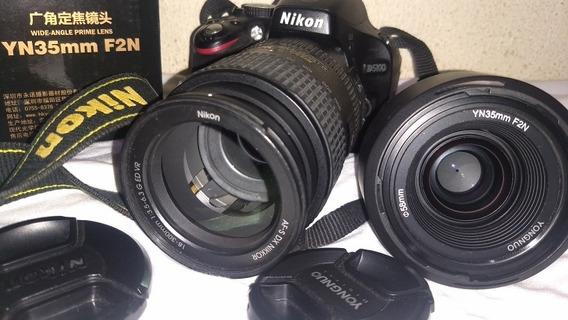 Nikon D5100 Perfeito Estado E Fun Lentes Afs 18-300 + 35 F2