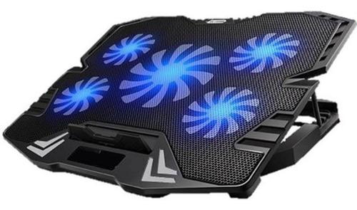 Cooler Para Laptop Gamer 15.6 Cybercool 5 Ventiladores Ha-k5