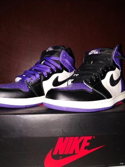 Tênis Air Jordan 1 Court Purple
