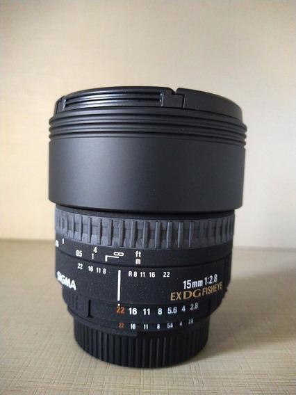 Lente Sigma 15mm Fisheye F/2.8 Ex Dg