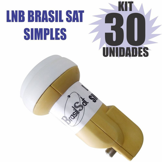 Kit 30 Peças Lnbf Ku Simples Universal Lnb Semi Novo