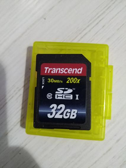 Cartão Sdhc 32gb Transcend Classe 10 32gb