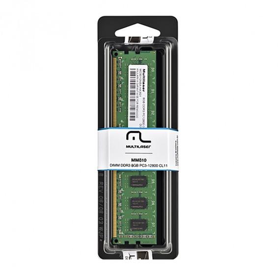 Memória Desktop Multilaser Ddr3 8gb Mm810