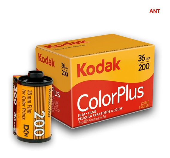Filme Kodak 35 Mm Color Plus 200 36 Poses 5 Rolos