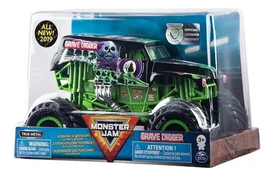 Monster Jam Metal Escala 1/24 Grave Digger Zombie Thunder