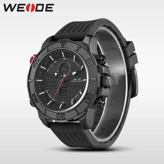 Relógio Weide Digital Original Analógico Luxo Preto Promoção