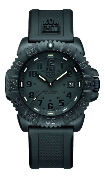 Relógio Masculino Luminox 3051.bo Poliuretano