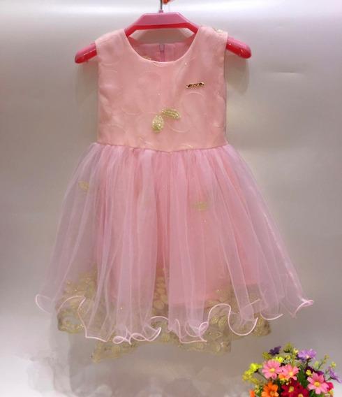Vestido Bautismo Cumpleaño Fiestas De Nena Importado 016
