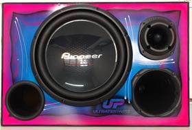 Caixa Trio Pioneer Ts-w310s4 Jbl D250trio + St400 Grafitada