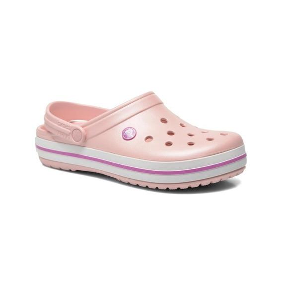 Suecos Crocs Mujer Rosa - Originales - Crocband - Pearl Pink