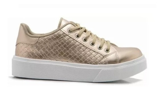 Zapato Zapatilla Mujer Urbana Plataforma Sneakers 780 Popys