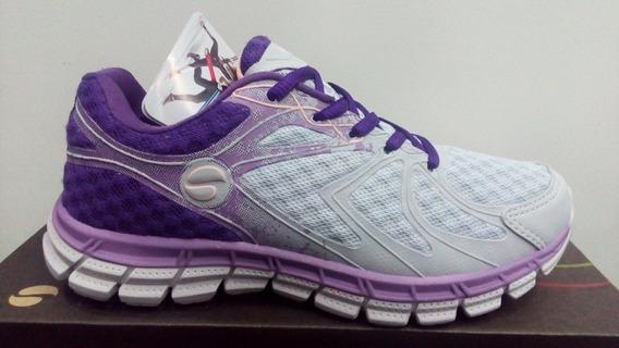 Tenis Lynd Jogging 487-1027 Cinza/roxo