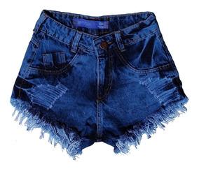 Shorts Jeans Feminino Customizado Hot Pants Manchado St005