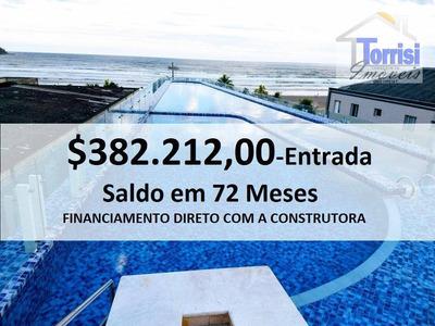 Cobertura Em Praia Grande, Duplex, Vista Para O Mar, 02 Dormitórios, 02 Salas Com Sacada, Espaço Goumrt No Forte, Co0037 - Co0037