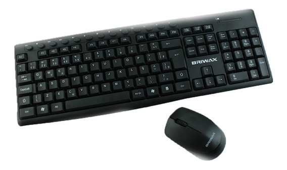Teclado + Mouse Ba-8012 Multimídia Wireless A Prova D