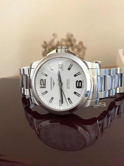 Relógio Longines Conquest Automatic 42,7mm - White Dial