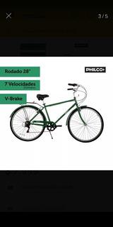 Bicicleta Philco Toscana Urbana Vintage