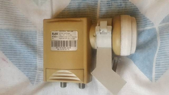 02 Lnb Universal E Duplo+suporte De Antena Duplo 3/4