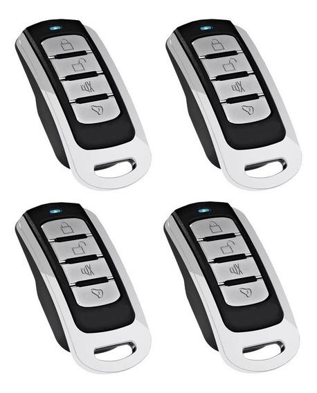 Controle Portão Alarme Intelbras Ppa Rcg Cromado 4 Unidades