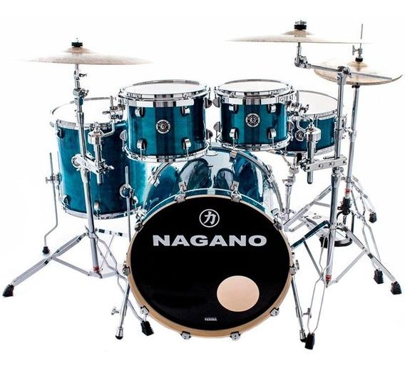 Bateria Acústica Nagano Concert Traditional Bumbo 20 Azul Db