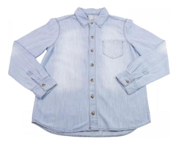 Camisa Jeans Infantil Masculina Hering Kids M/l Frete Gratis