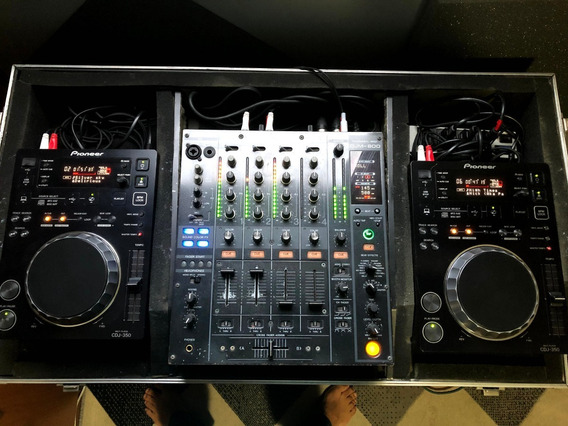 Kit Par De Cdj 350 + Djm 800 + Flight Case