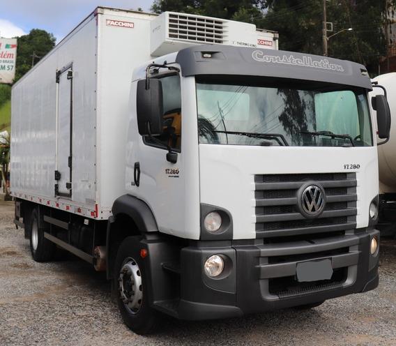 Volskswagen 17.280 Com Bau 6,50m Canaletado, Gancheira