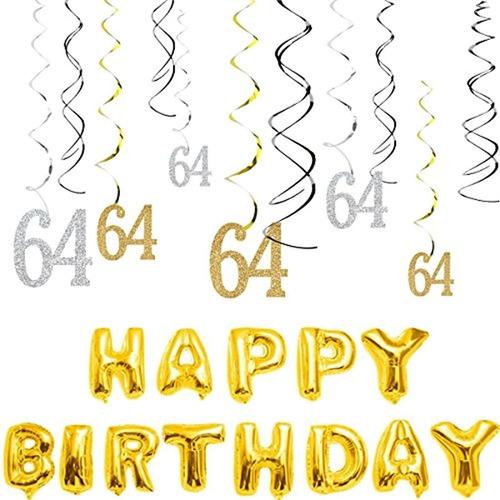Kit Decorativo Para Fiesta De Cumpleaños 64. Marca Pyle