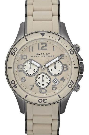 Relógio Marc Jacobs Feminino Cronógrafo Cinza Marrom Ebm2580