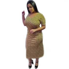 Kit Lote 3 Vestido Gospel Plus Size Evangelica Feminin 48/54