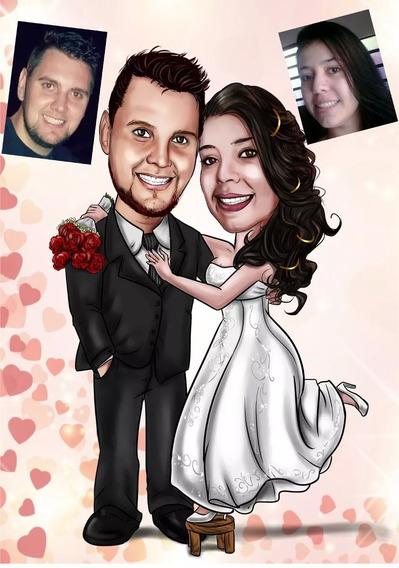 Caricatura Digital Personalizada Casamento Formatura