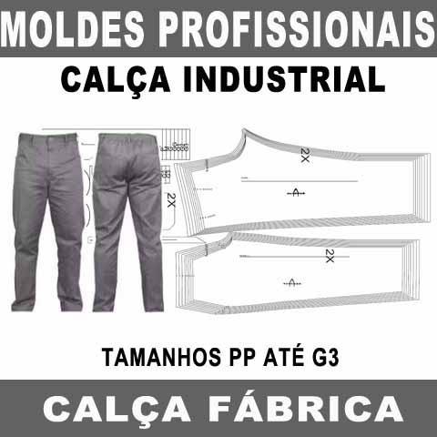 Moldes Profissionais Calça Industrial Fábrica Molde Cdr Pdf
