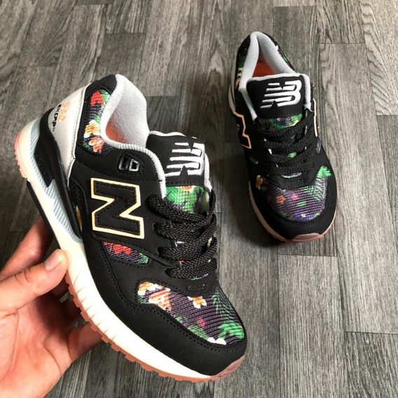 new balance flores mujer