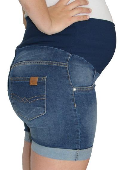 Short Gravida Gestante Jeans - 38 Ao 48 - Se Compra 2 Leva 3