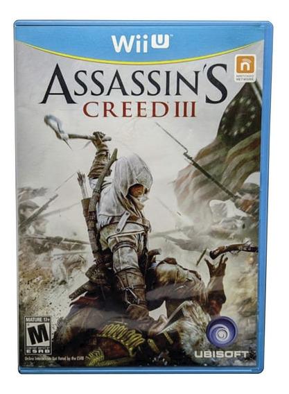 Assassins Creed 3 Wii U Jogo Mídia Física Original