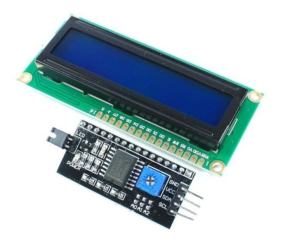 Display Lcd 16x2 1602 Backlight Azul + Modulo I2c Arduino