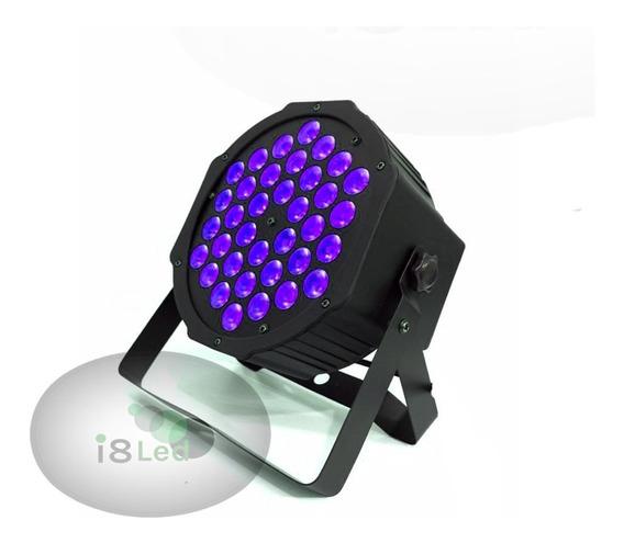 Refletor Par 64 36 Leds Cree De 3w Luz Negra Uv Efeito Neon