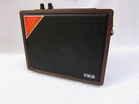 Caixa De Som Stereo Karaoke Fm Usb Card Microfone Reunião