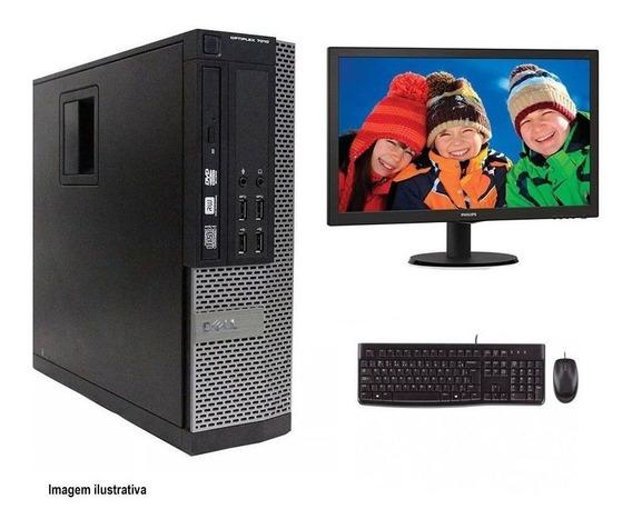 Computador Desktop Dell 7010 I7 4gb 120ssd Monitor 21