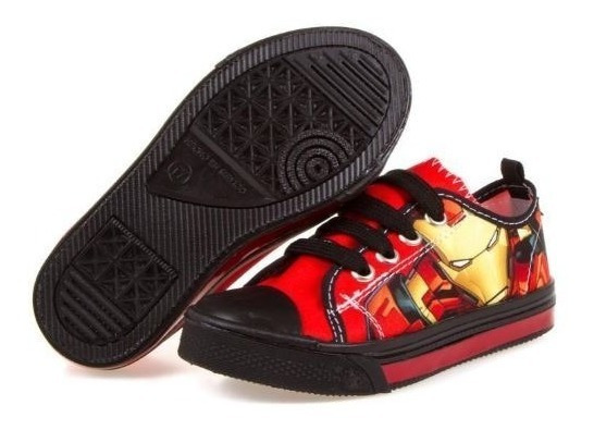 Tenis Iron Man Marvel Avengers Tipo Converse