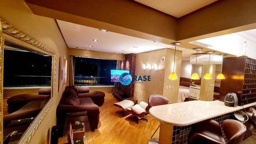 Belíssimo Apartamento Com 1 Dormitório À Venda, 51 M² Por R$ 529.000 - Brooklin Novo - São Paulo/sp - Ap11434