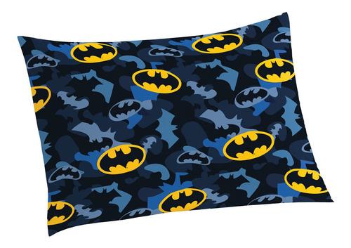 Imagem 1 de 2 de Fronha Avulsa Infantil Microfibra Batman